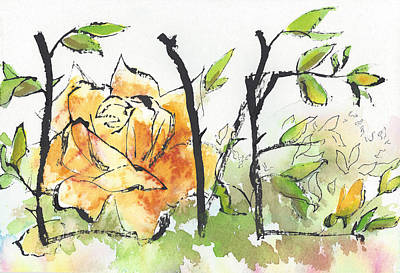 First Love 15 - Tangled Together Print by Faith Teel