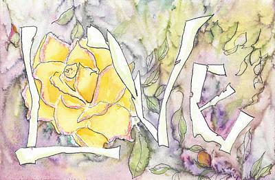 Teen Graffiti Mixed Media - First Love #8 -  In The Soft Rain by Faith Teel