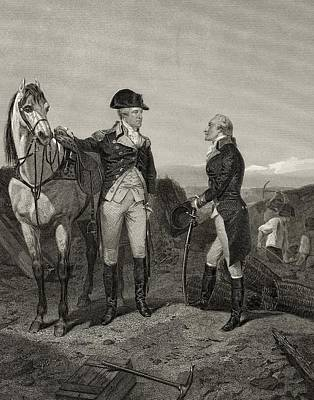 America First Party Drawing - First Meeting Of George Washington 1732 by Vintage Design Pics