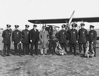 Nypd Photograph - First Ny Air Traffic Squad by Underwood Archives