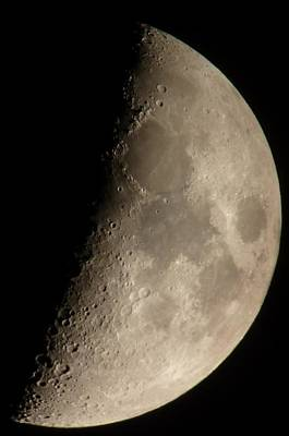 Photograph - First Quarter Moon by George Leask