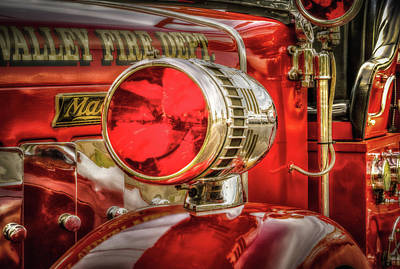 With Red. Photograph - First Responders - Fire Engine Siren by TL Mair