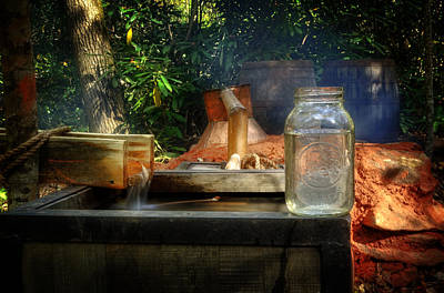 Water Jars Photograph - First Run Of Moonshine by Greg and Chrystal Mimbs