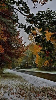 Winter Photograph - First Snowfall by Dani McEvoy