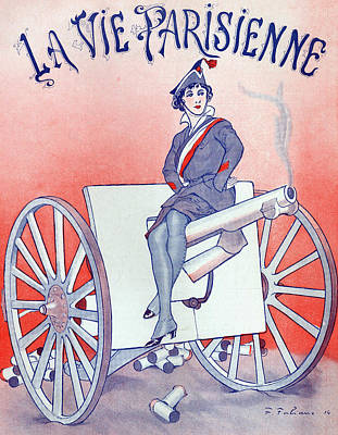 French Signs Drawing - First World War Propaganda   Cover Of La Vie Parisienne by French School