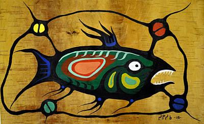 Lake Superior Art Gallery Painting - Fish by Francis Esquega