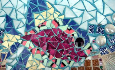 Ceramic Mixed Media - Fish Fry by Leslie Morton