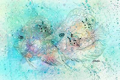 Fish In Tropical Colors Print by Barbara Chichester