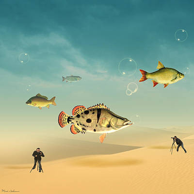 Landscapes Digital Art - Fish Life  by Mark Ashkenazi
