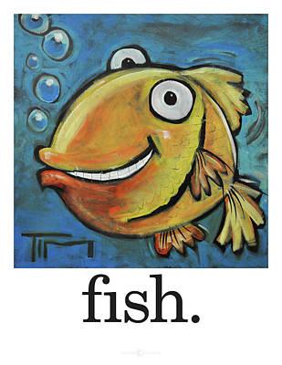 Goldfish Digital Art - Fish Poster by Tim Nyberg