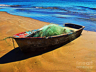 Fisher Boat By Michael Fitzpatrick Print by Mexicolors Art Photography