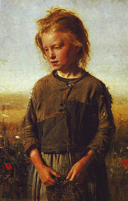 Meadow Painting - Fisher Girl by Ilya Efimovich Repin