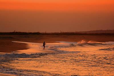 Photograph - Fisherman At Sandy Hook Fishing Beach by Raymond Salani III
