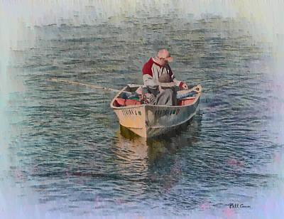 Row Boat Digital Art - Fisherman - Mystic Connecticut by Bill Cannon