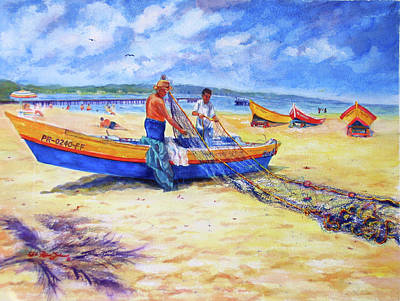 Decoraci Painting - Fishermans Legacy by Estela Robles