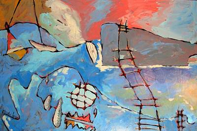 Net Painting - Fisherman's Trials by Charlie Spear