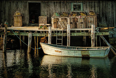 Wooden Platform Photograph - Fisherman's Wharf At Peggy's Cove by Randall Nyhof
