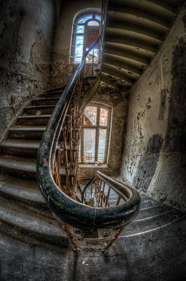 Haunted Mansion Digital Art - Fisheye Stairs by Nathan Wright