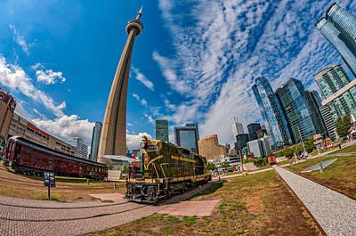 Caboose Photograph - Fisheye View Of Toronto by Steve Harrington