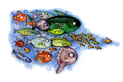 Fishies Print by Kirsten Carlson