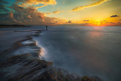 Fishermen Photograph - Fishing A Sunset by Cristian Kirshbom