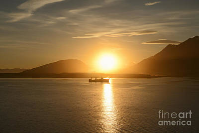 Coast Photograph - Fishing Boat At Sunset In Ushuaia, Argentina by Dani Prints and Images