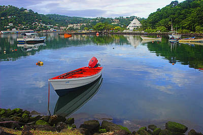 Fishing Boat-st Lucia Print by Chester Williams