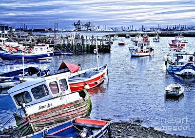Fishing Boats At 'paddy's Hole' Print by Martyn Arnold
