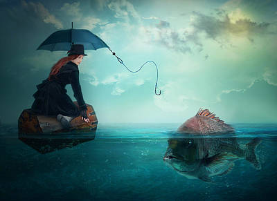 Manipulation Photograph - Fishing-for A Woman ..! by Nataliorion