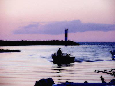 Fishing Lake Ontario  Lake Ontario  Original by Iconic Images Art Gallery David Pucciarelli