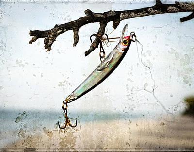 Fishing Lure Art - Caught - Sharon Cummings Print by Sharon Cummings