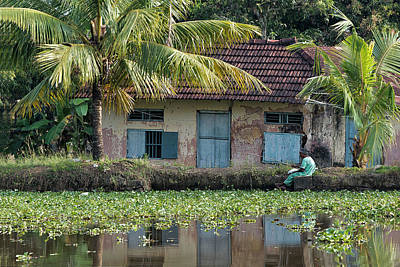 Old House Photograph - Fishing by Marion Galt