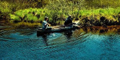 Canoes Photograph - Fishing On The Moose River by David Patterson