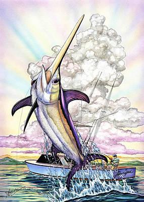Fishing Swordfish Print by Terry  Fox