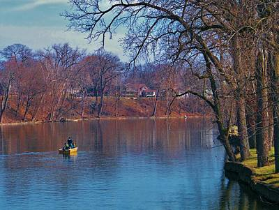 Joeseph Photograph - Fishing The Springtime River          Indiana by Rory Cubel