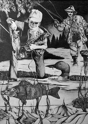 Fishing Vacation Print by Bruce Bley