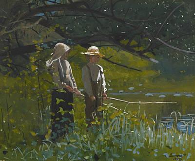 Fishing Print by Winslow Homer