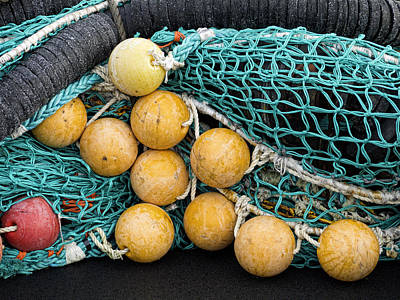 Buoys Photograph - Fishnet Floats by Carol Leigh