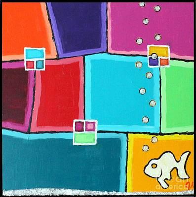 Fishy Color Print by Jeremy Aiyadurai