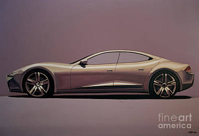 Champagne Painting - Fisker Karma 2012 Painting by Paul Meijering