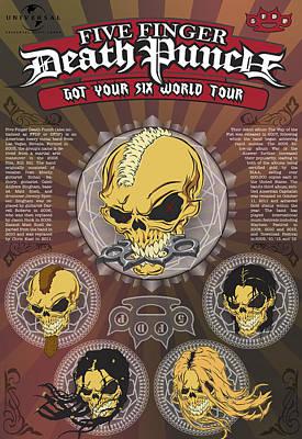 Five Finger Death Punch Got Your Six World Tour Original by Leon Gorani