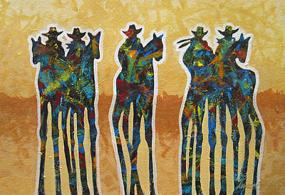 Abstract Painting - Five In The Dust by Lance Headlee