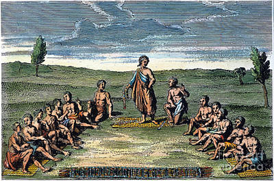 Huron Indian Photograph - Five Nations: Meeting, C1570 by Granger