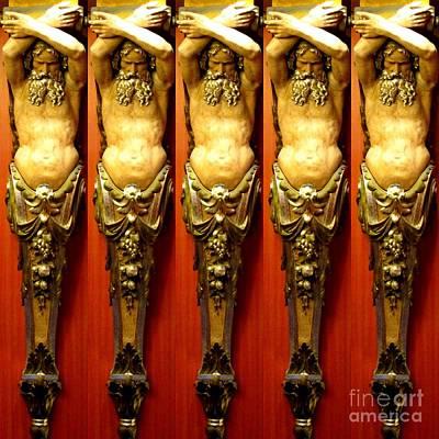 Poseidon Digital Art - Five Poseidons by Randall Weidner