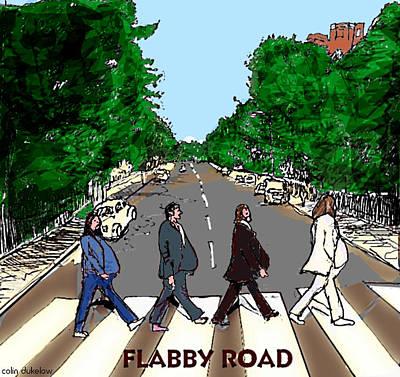 Cartoon Mixed Media - Flabby Road by Colin Dukelow