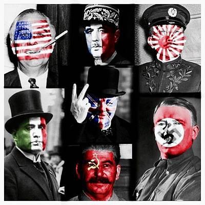 Adolf Digital Art - Flag Faces by Philip Hopkins