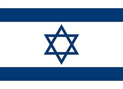 Flag Of Israel Print by Unknown