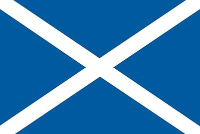 Scots Painting - Flag Of Scotland by Unknown