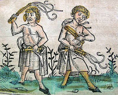 1493 Photograph - Flagellants, Nuremberg Chronicle, 1493 by Science Source