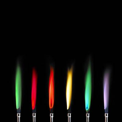 Strontium Photograph - Flame Test Sequence by